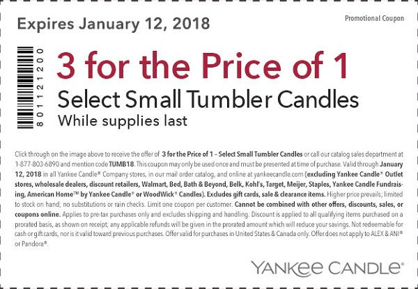 Yankee candle 20 off