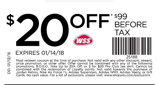 Wss coupons discount code
