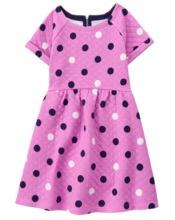 Quilted Dot Dress