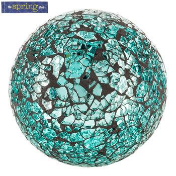 Turquoise Mirror Mosaic Decorative Sphere