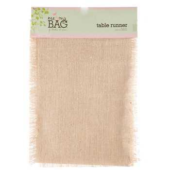 13 x 72 Natural Jute Table Runner with Fringe