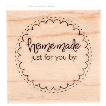 Homemade Circle Rubber Stamp