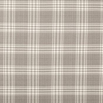 Pearl Gray Bernegat Plaid Home Decor Fabric