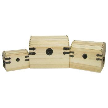 Wood Trunks with Handle Set