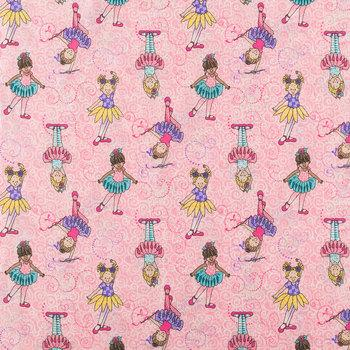 Tippy Toes Ballerina Cotton Calico Fabric