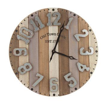 Striped Wood Pallet Wall Clock