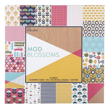 Mod Blossoms Paper Pack - 12 x 12
