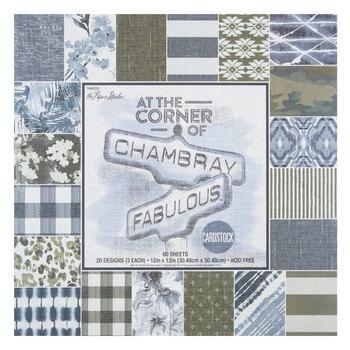 Chambray & Fabulous Cardstock Paper Pack - 12 x 12