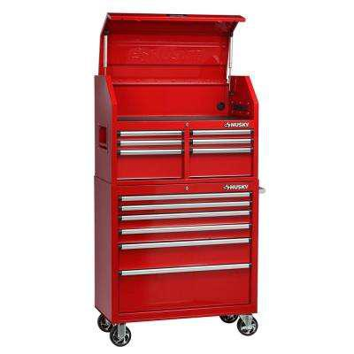 Husky 36 in. 12-Drawer Tool Chest and Cabinet Combo in Red