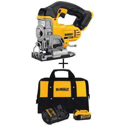 DEWALT 20-Volt Max Lithium-Ion Cordless Jig Saw (Tool-Only) with Bonus Battery Pack and Charger Kit