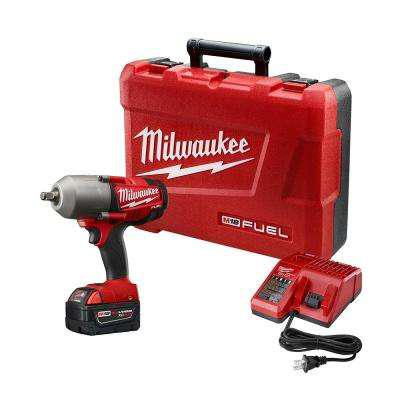 Milwaukee M18 FUEL 18-Volt Lithium-Ion Brushless 1/2 in. Cordless High Torque Impact Wrench with One 5.0Ah Battery