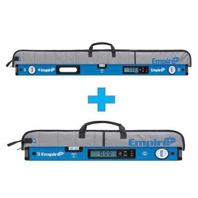 Empire 48 in. True Blue Magnetic Digital Box Level with Case with Free 24 in. True Blue Magnetic Digital Box Level with Case