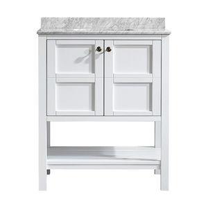 Florence Single Vanity, White, Without Mirror, 30