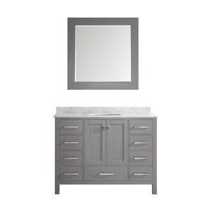 Gela 48 Single Vanity, Gray, With Mirror