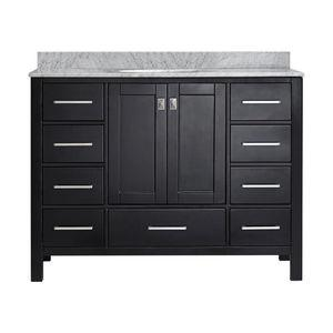 Gela Single Vanity, Espresso, Without Mirror, 48