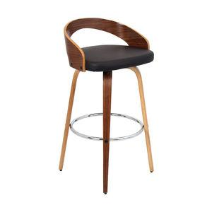 Grotto Bar Stool, Walnut and Brown