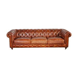 Chester Bay Leather-Tufted Sofa