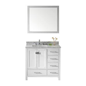 Caroline Avenue Single Vanity, White, Without Faucet, White...