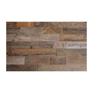 Reclaimed Wood Wall Paneling, Brown, 20 sq. ft., Sealed