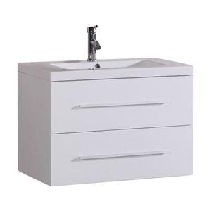 Floating Bathroom Vanity, White, 32