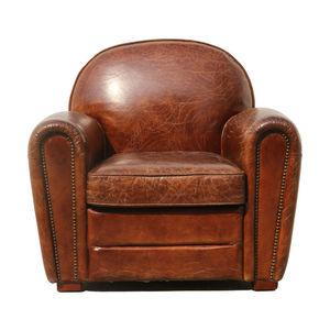 Pasargad Genuine Leather Paris Club Chair