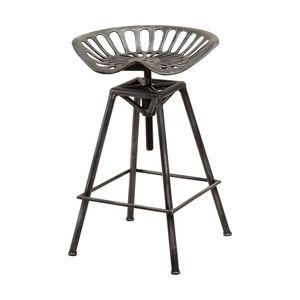 Charlie Bar Stool, Black Brushed Silver