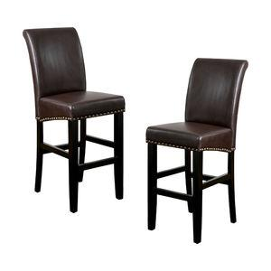 Clifton Bar Stools, Set of 2, Brown