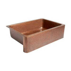 Adams Farmhouse Apron-Front Copper Kitchen Sink, 33