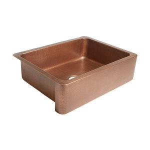 Courbet Farmhouse Kitchen Sink, Antique Copper, 30