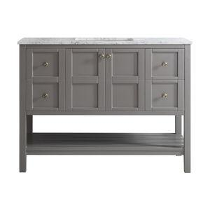 Florence 48 Single Vanity, Gray, Without Mirror