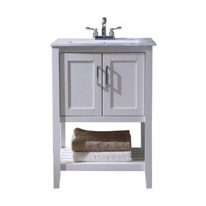Moozman 24 Single-Sink Vanity, White