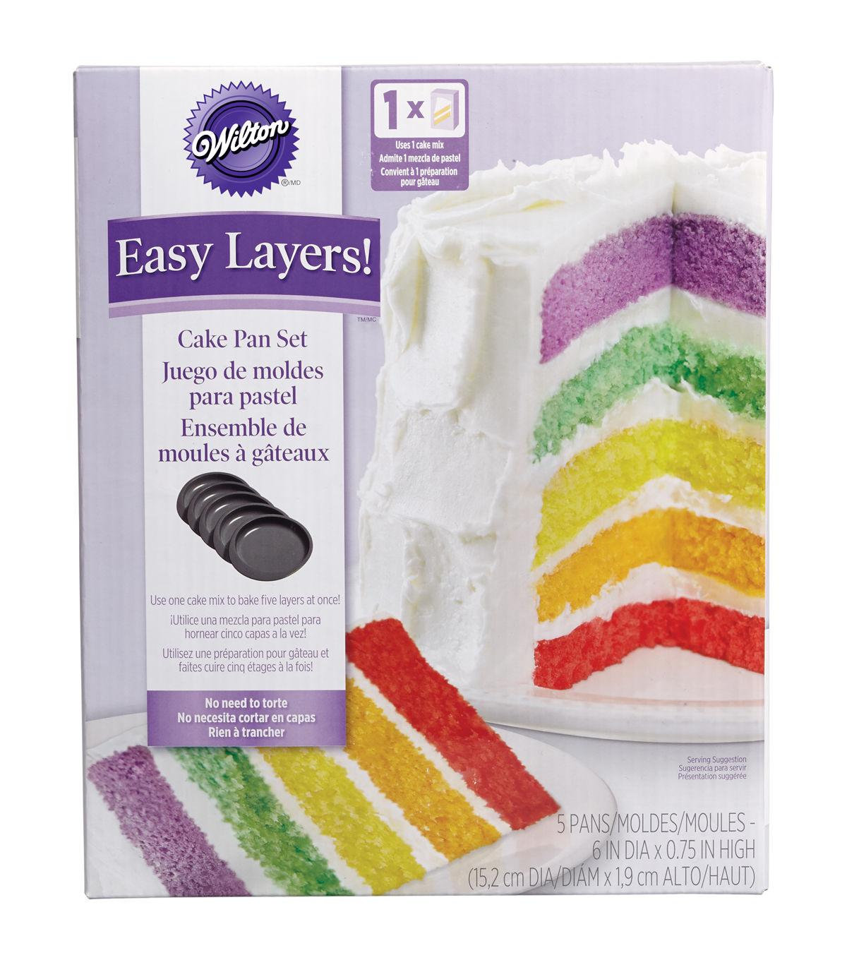 Wilton® Easy Layers! Cake Pan Set 5/Pkg-6