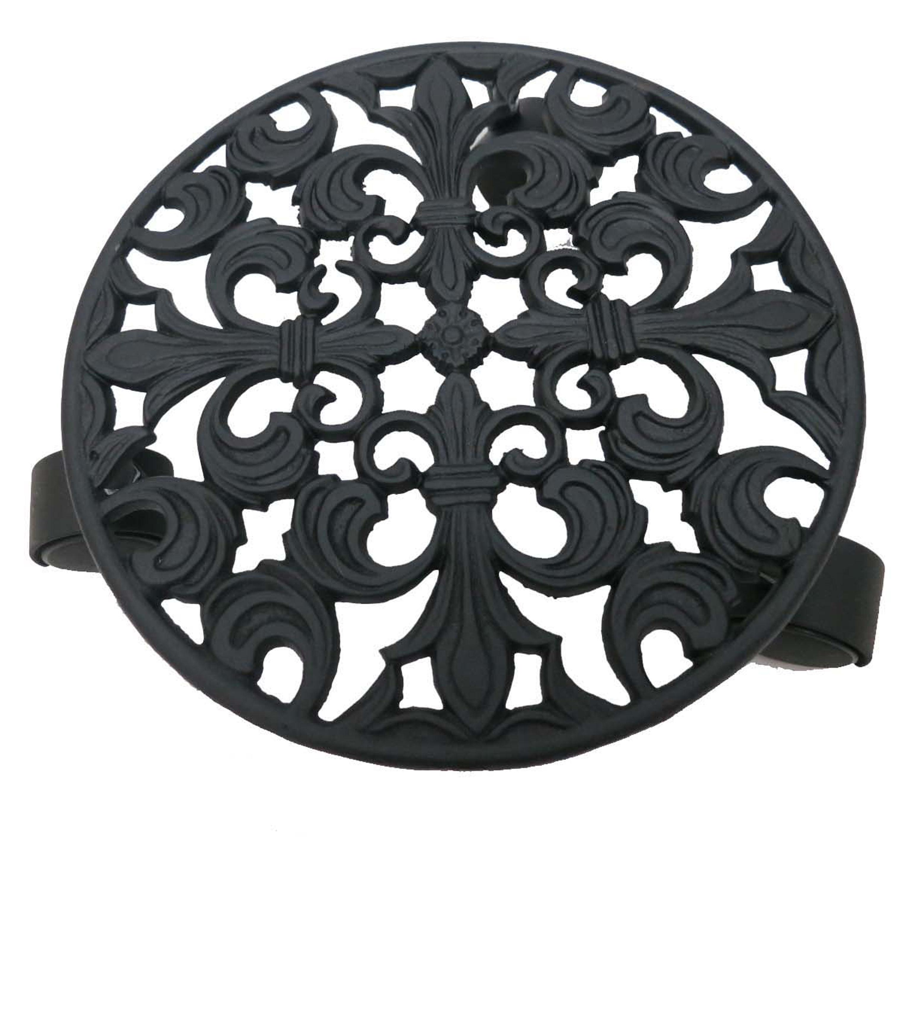 Wild Blooms Metal Plant Stand with Wheels-Black