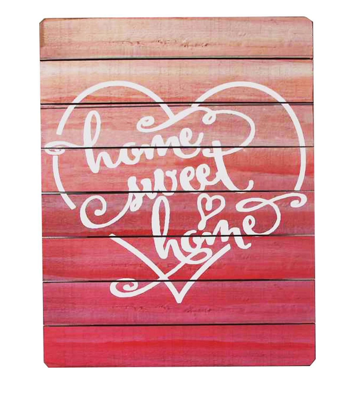 Valentine's Day Wall Decor-Ombre Home Sweet Home