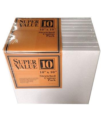 Jo-Ann Stores Stretched Canvas Super Value Pack 10x10
