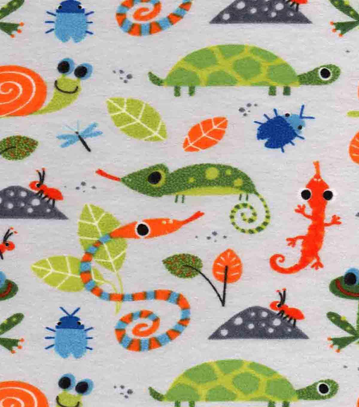 Snuggle Flannel Fabric 43''-Multi Color Insects
