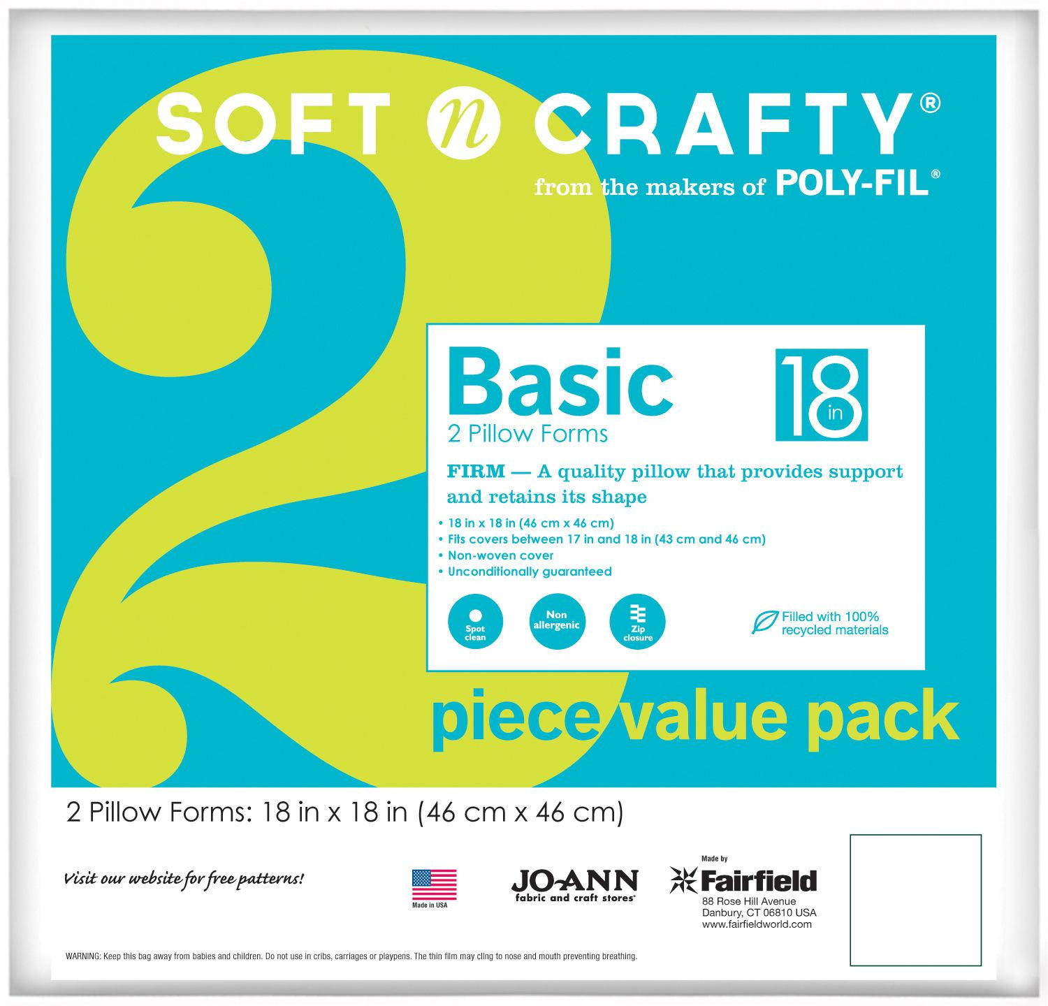 2 Pack Value Pillow 18x18
