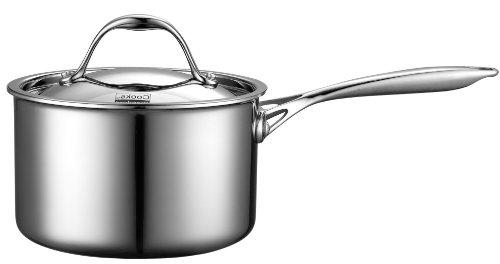 Cooks Standard Stainless-Steel 3-Quart Covered Sauce Pan