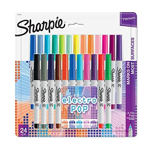 Ultra Fine Point Sharpie Electro Pop Permanent Assorted Colors Markers