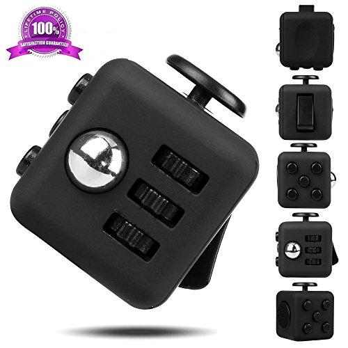Black EpochAir Stress & Anxiety Attention Fidget Cube Toy