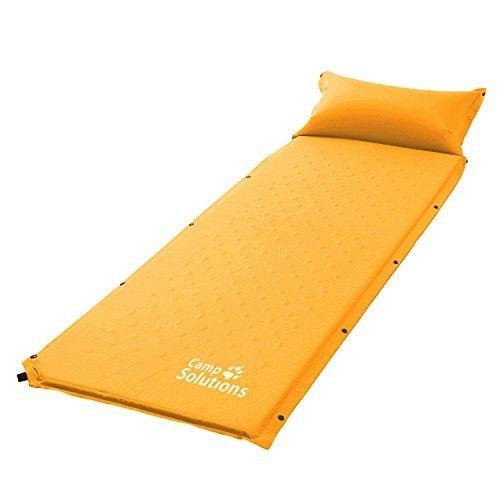 Camp Solutions Abrasion Resistant Self Inflating Air Sleeping Pad with Pillow