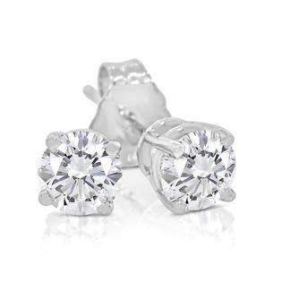 SK Jewel,Inc 1/2ctw Diamond Stud Earring in 14k White Gold