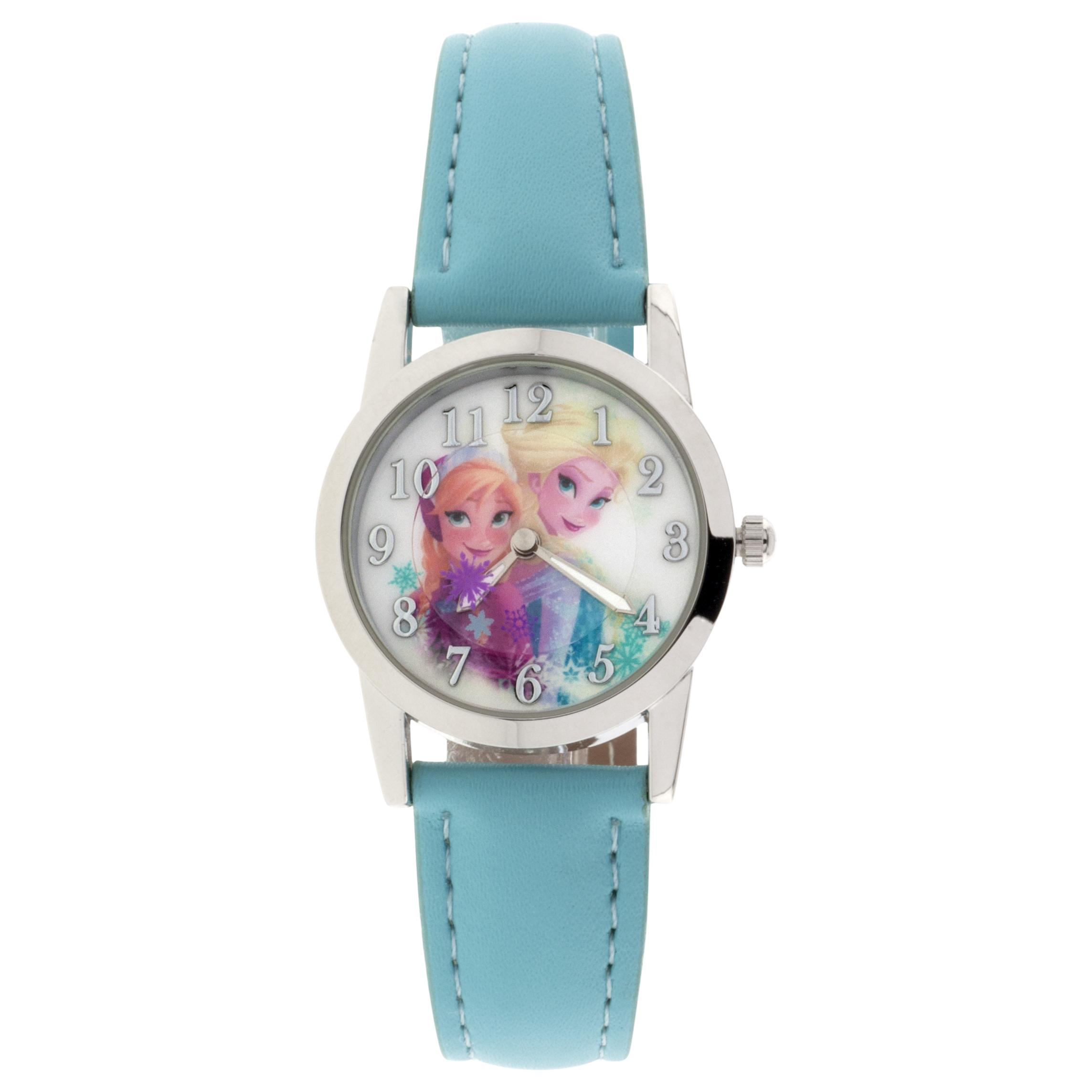 Disney Anna and Elsa Blue Analog Watch