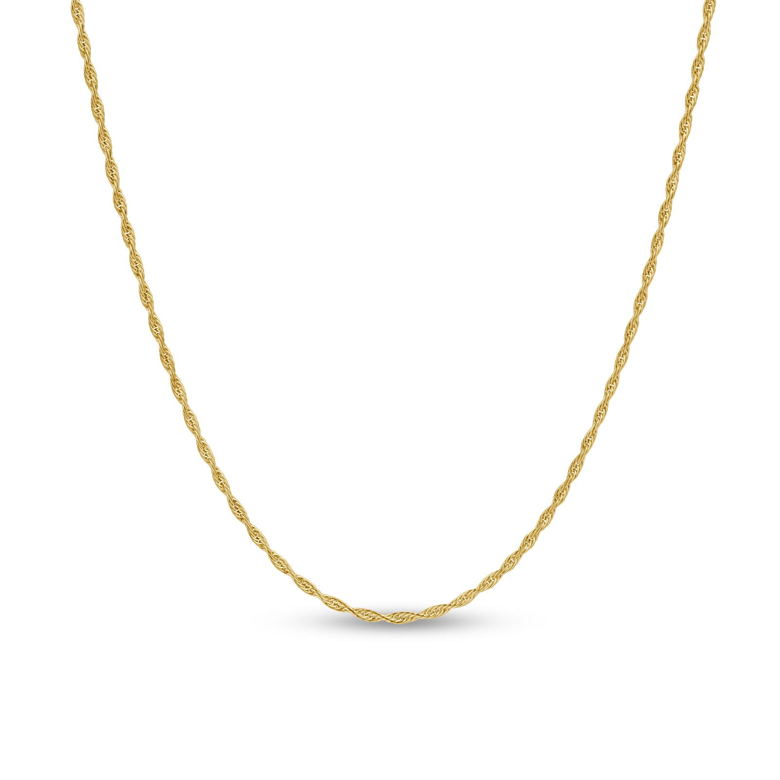 Gold Plated Twist Slide 24 Necklace