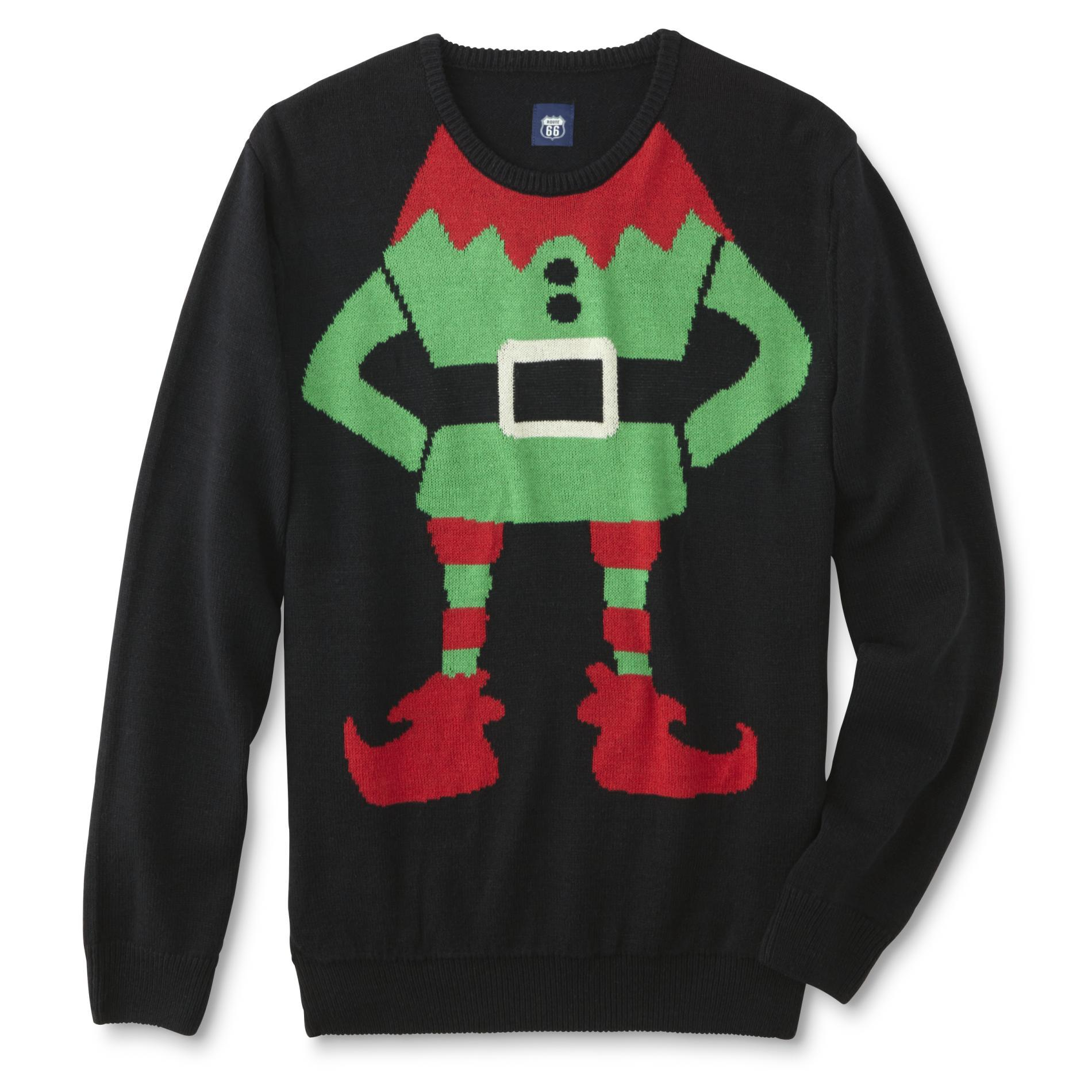 Route 66 Men's Big & Tall Ugly Christmas Sweater - Elf