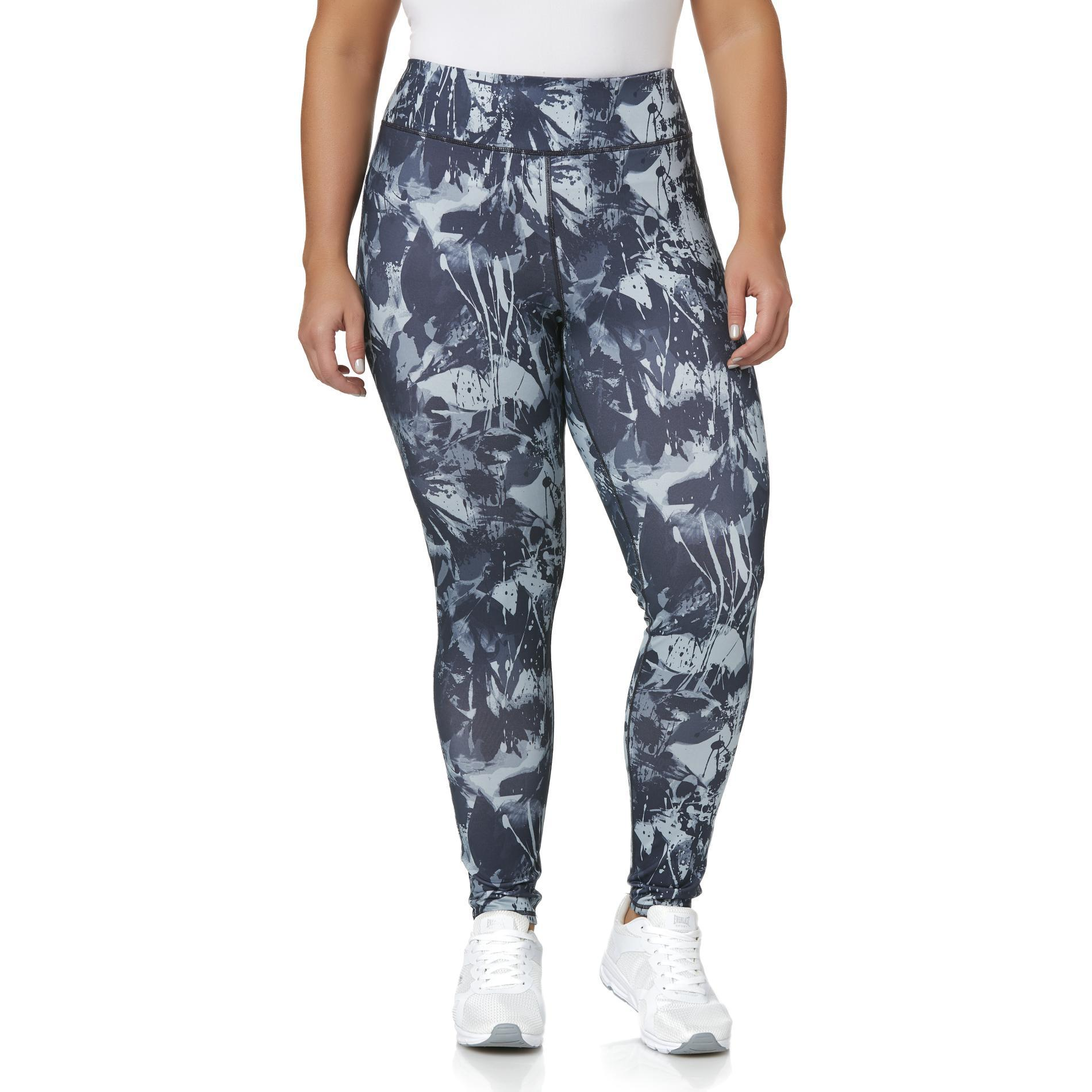 Everlast® Sport Women's Plus High-Waist Athletic Leggings - Abstract