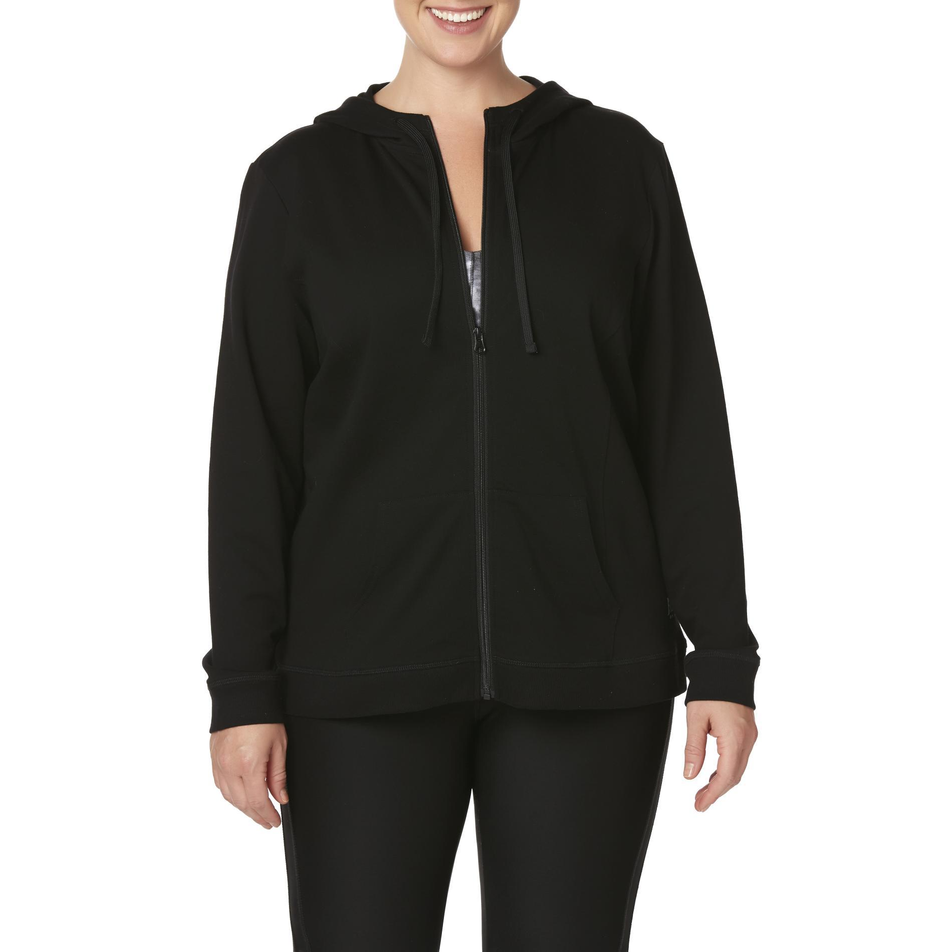 Everlast® Sport Women's Plus French Terry Knit Hoodie Jacket