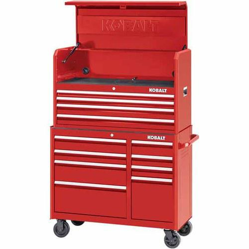 Kobalt 2000 Series 41-in 4-Drawer Red Steel Tool Chest