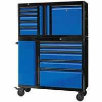 Kobalt 3000 Series 45-in 6-Drawer Black and Blue Steel Tool Chest
