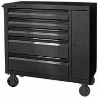 Kobalt 41-in 5-Drawer Black Stainless Steel Tool Cabinet